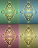 античная тахта золота конструкции Стоковое Фото