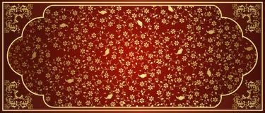 античная тахта золота конструкции Стоковые Изображения RF