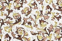 античная флористическая бумажная картина Стоковые Фотографии RF