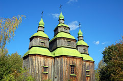 античная церковь деревянная Стоковая Фотография