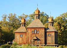 античная церковь деревянная Стоковое Фото