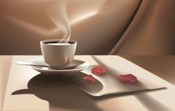 античная чашка подряда кофе дела фасонировала машинку места пер свежего доброго утра старую Стоковое Фото