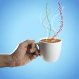 античная чашка подряда кофе дела фасонировала машинку места пер свежего доброго утра старую Стоковое Изображение RF