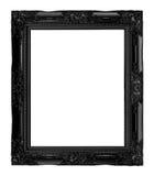 античная черная рамка изолированная на белой предпосылке, пути клиппирования Стоковое Изображение RF
