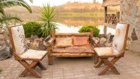 Античная handmade мебель Стоковое фото RF