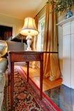 античная mohogany бортовая таблица софы Стоковая Фотография