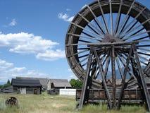 античное великобританское колесо воды Канады columbia Стоковые Изображения RF