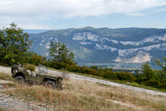 Античное военное транспортное средство в горе Стоковое Изображение