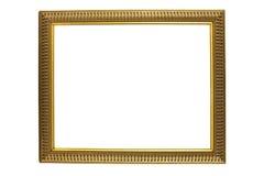 античное золото рамки изолировало белизну изображения Стоковое Изображение