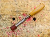 Античное зубило woodworking стоковые изображения rf