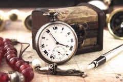 античное карманн часов Стоковая Фотография RF