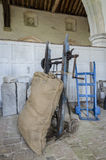 Античное оборудование сельского хозяйства - курган мешка Стоковые Изображения