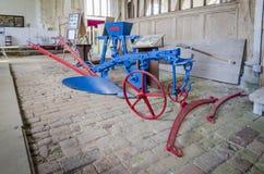 Античное оборудование сельского хозяйства - плуг Стоковые Фото