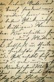 Античное письмо почерка предпосылка детализировала сбор винограда текстуры пятен разрешения grunge высокий бумажный Стоковые Фото