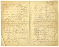 античное письмо Стоковые Фото