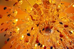 Античное потолочное освещение Стоковая Фотография
