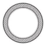Античной греческой линия нарисованная рукой искусство меандра стиля ornanent и рамка работы точки круглая конструируют иллюстраци бесплатная иллюстрация