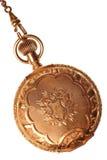 античной изолированная предпосылкой белизна карманного вахты Стоковая Фотография