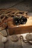 античные бинокли Стоковые Фотографии RF