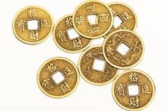 Античные бронзовые китайские монетки Стоковая Фотография