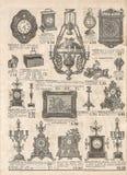Античные викторианские объекты и collectibles газета старая ретро Стоковое Изображение RF