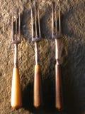 античные вилки Стоковые Изображения RF