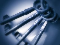 image photo : Antique Keys - Blue