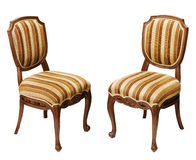 Античные деревянные стулья изолированные на белой предпосылке Стоковое Изображение