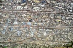 Античные естественные stonewall Старые каменные текстура/предпосылка Стоковое фото RF