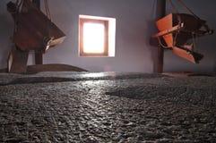 Античные диски камня мельницы Стоковая Фотография
