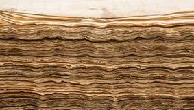Античные листы книги Стоковое Фото