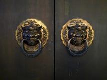 Античные китайские двери Стоковая Фотография