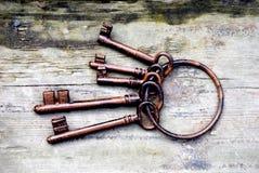античные ключи Стоковая Фотография