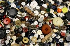 античные кнопки предпосылки Стоковая Фотография RF