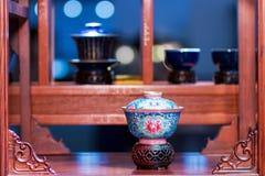 Античные комплекты чая стоковая фотография rf