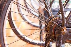 Античные колеса велосипеда Стоковое Изображение