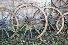 Античные колеса телеги Стоковые Изображения
