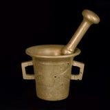 Античные миномет и пестик Стоковая Фотография RF