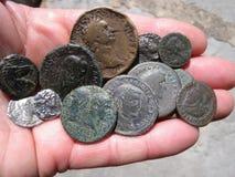 античные монетки Стоковое Фото
