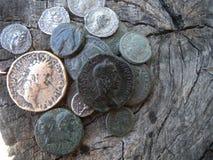 античные монетки Стоковые Изображения