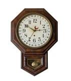 Античные настенные часы в старом магазине со смешанным ассортиментом на Appomattox Стоковая Фотография
