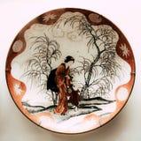 Античные плиты в музее стоковое изображение