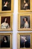 Античные портреты картины маслом молодых дам стоковые изображения rf