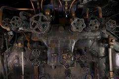 Античные ручки cocpit локомотива пара Стоковая Фотография RF