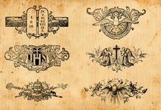 античные символы вероисповедания Стоковое Изображение