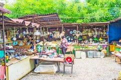 Античные стойлы блошинного Тбилиси Стоковые Фотографии RF