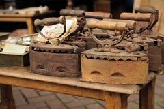 Античные утюги Стоковое фото RF