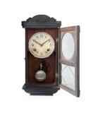 Античные часы изолированные на белизне. стоковое фото rf
