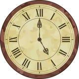 Античные часы римского цифра Стоковая Фотография