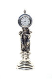 Античные часы с figurines женщин Стоковые Фотографии RF